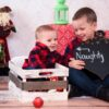 Two Brothers posing for Christmas mini photo shoot