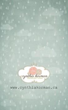 Rain Grunge Blue