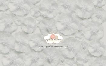 Paper Tissue White Flowers
