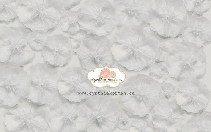 Paper Tissue White Flowers