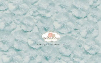 Paper Tissue Blue Flowers