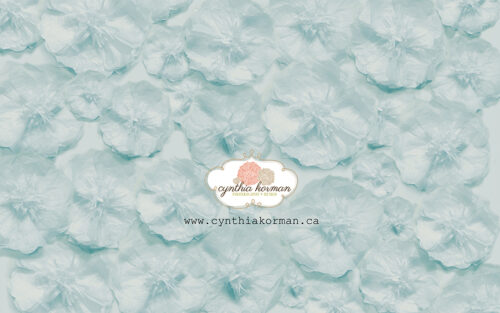 Paper Tissue Blue Flowers
