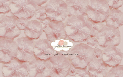 Paper Tissue Pink Flowers