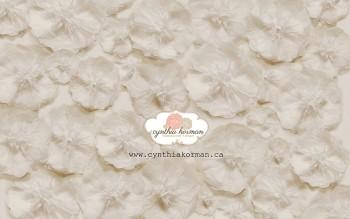 Paper Tissue Cream Flowers