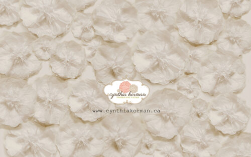 Paper Tissue Cream Flowers