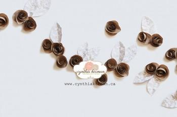 Paper Flowers Brown