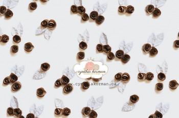 Paper Flowers Brown 2