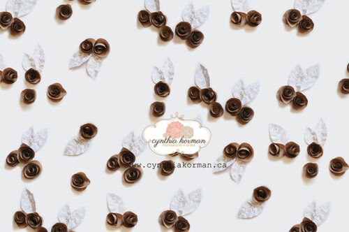 Paper Flowers Brown 2