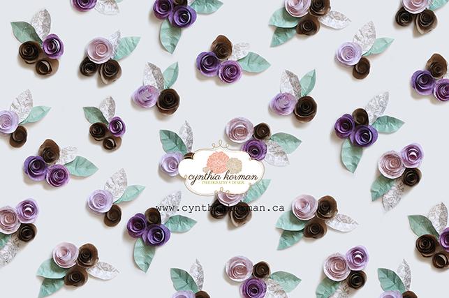 Paper Flowers Purple