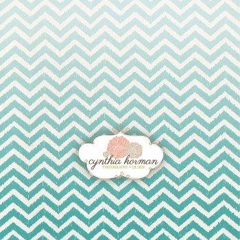Chevron Summer Green