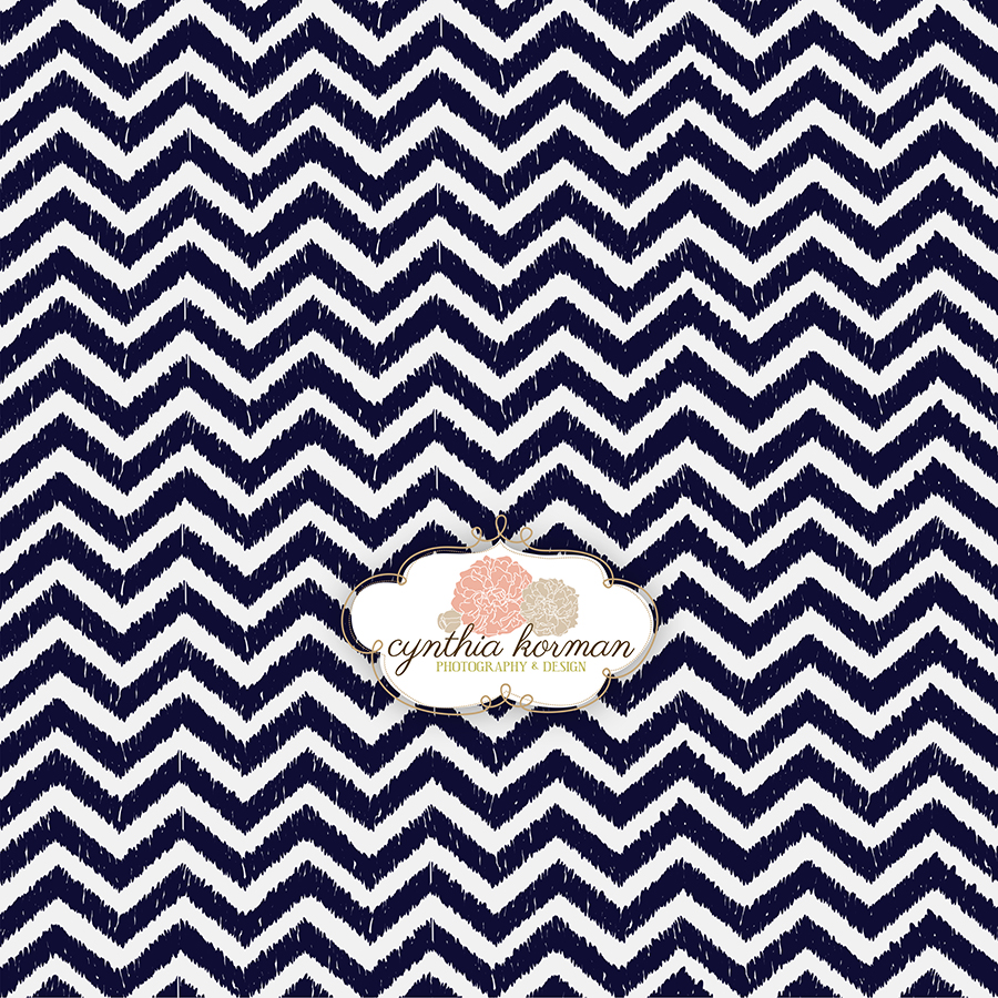 Chevron Grungy Navy