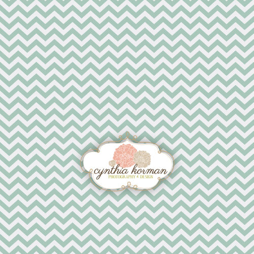 Chevron Moss Green