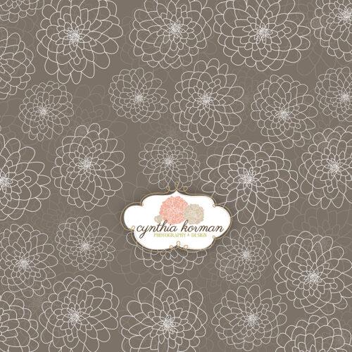 Elegant  Floral Grey