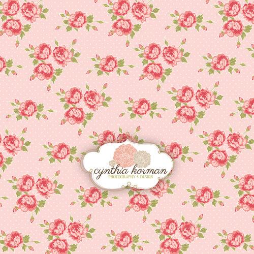 Floral Pink  On  Pink Background