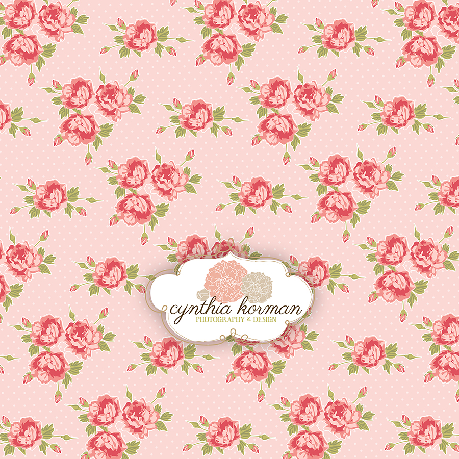 Floral Pink  On  Pink Background