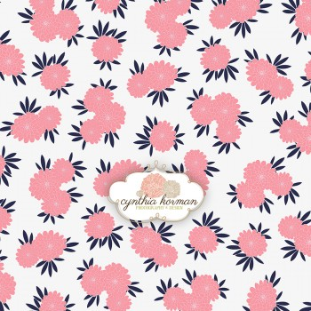 Pink Navy Floral