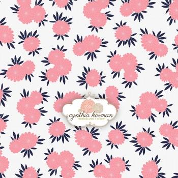 Pink Navy Floral