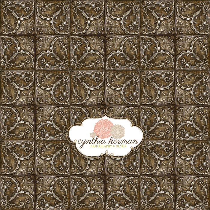 Elegant  Brown Tin Tiles