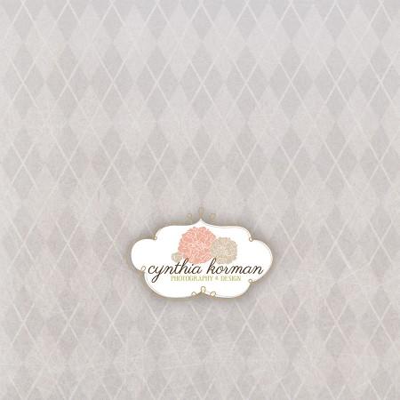Vintage Grey Diamonds