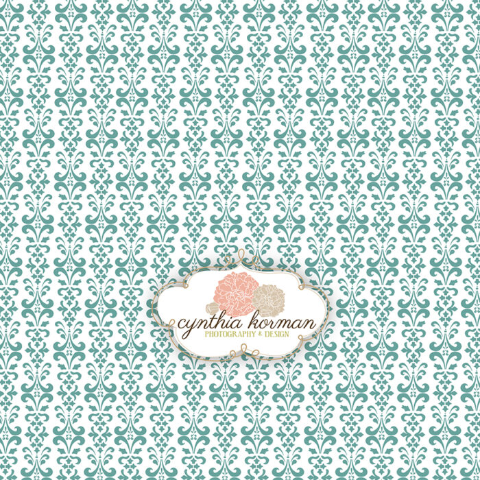 Damask Caribbean Green