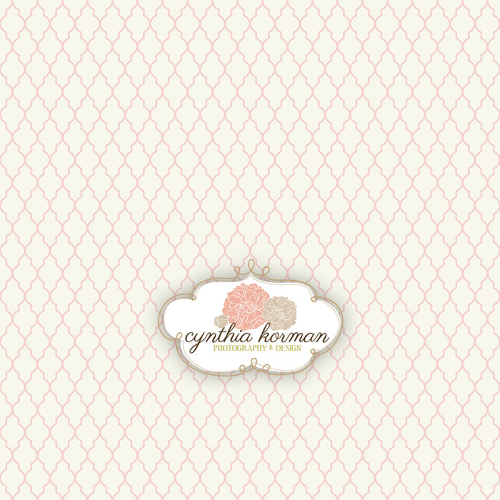 Decorative Abstract Pale Pink