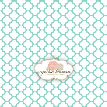 Decorative Abstract Aqua Green