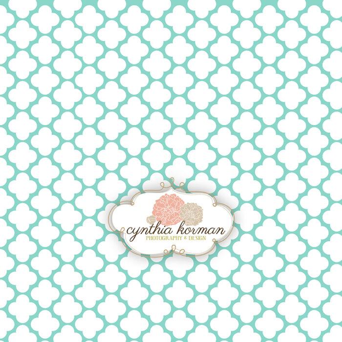 Decorative Abstract Aqua Green