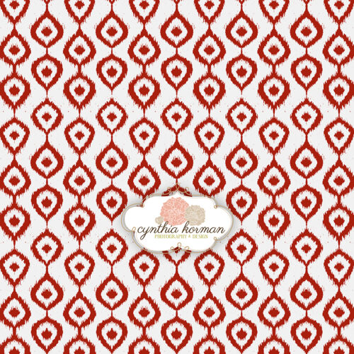 Decorative IKat Red