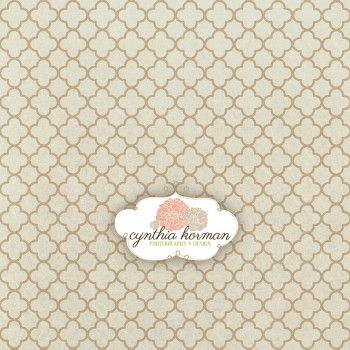Vintage Abstract Beige