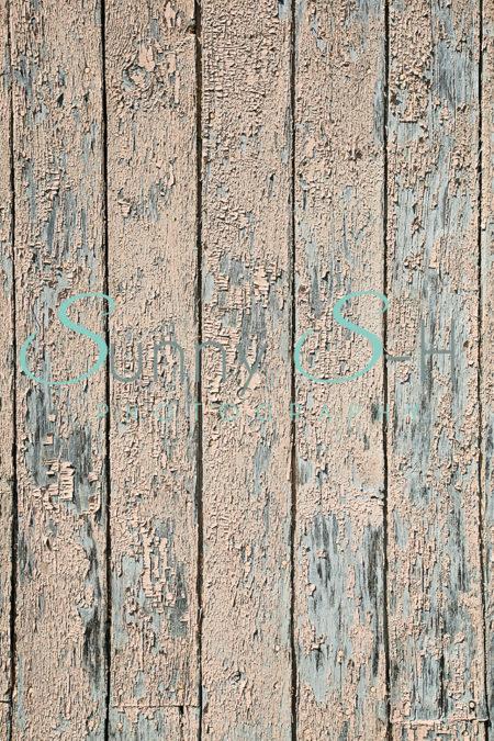 Peeling Paint on Wood Boards