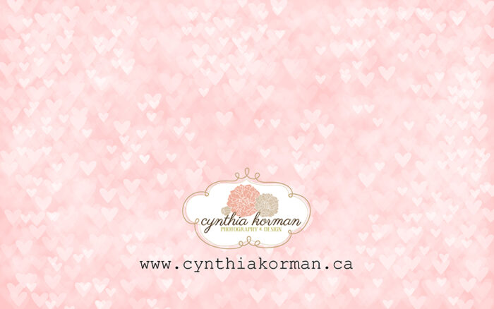Bokeh Heart Pink-H