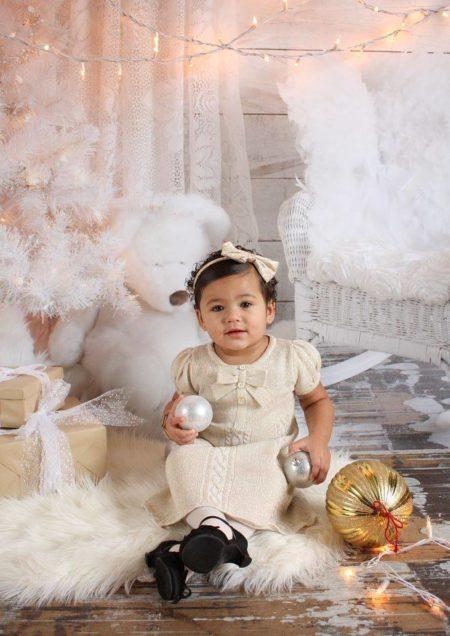 Angel Wings Backdrop with model