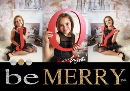 Christmas Photography Card Layout