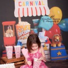 Carnival Stand Backdrop with Little Girl