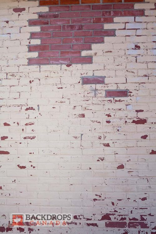 Peeling White Brick Photography Backdrop