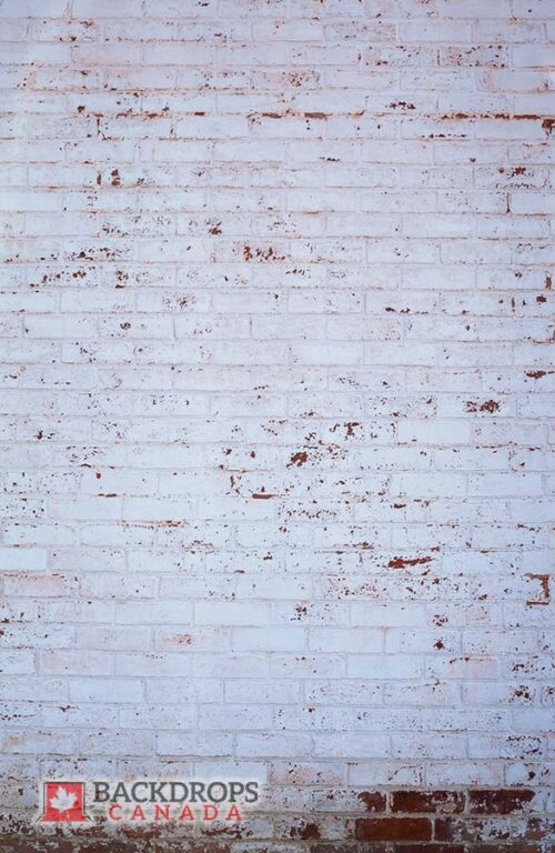 Rustic White Brick Photography Backdrop