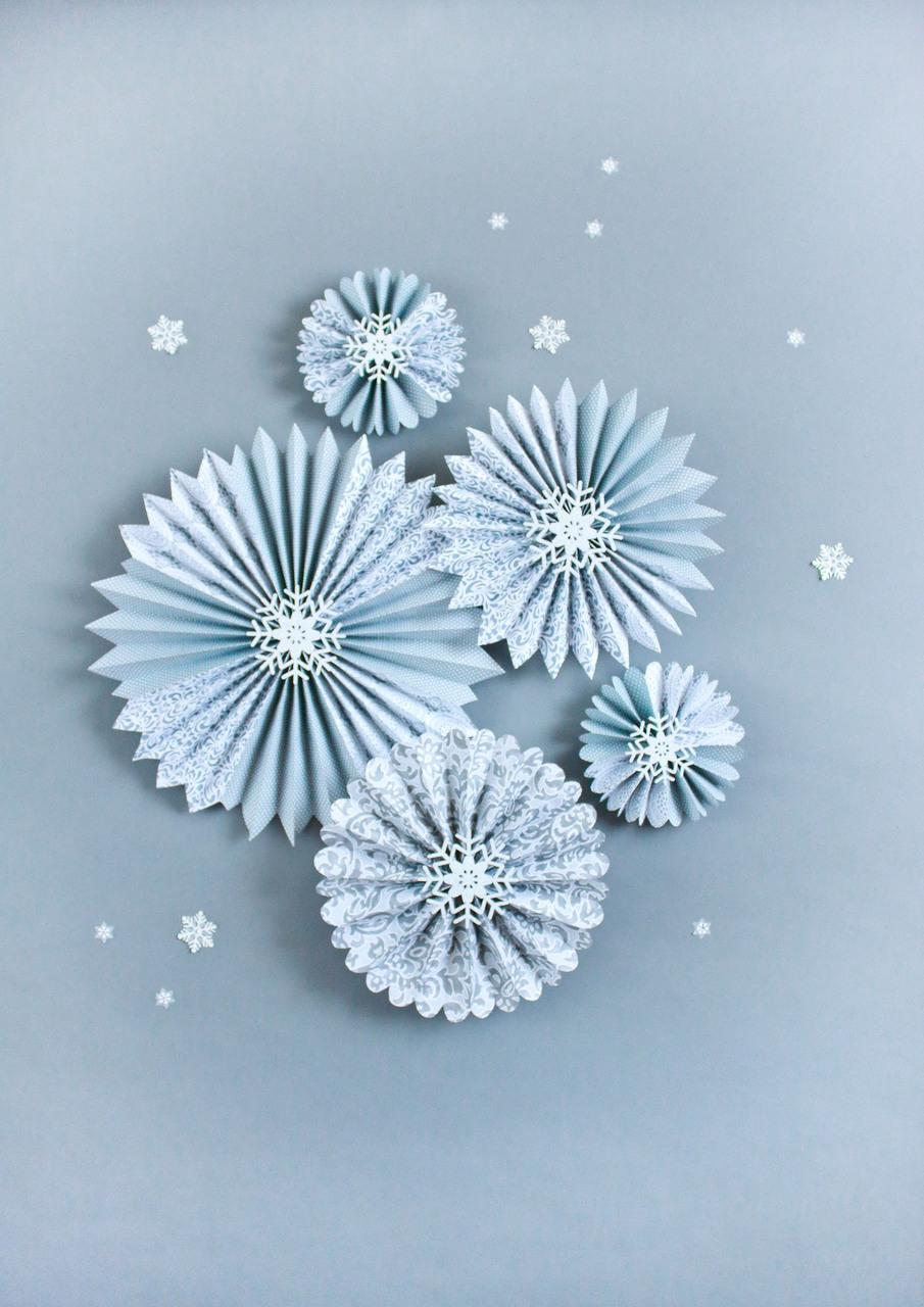 Snowflake Blue Pinwheels