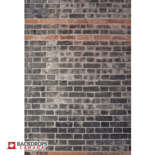 Black Brick with Orange Photography Backdrop