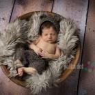 Old Barn Wood Floordrop with Newborn