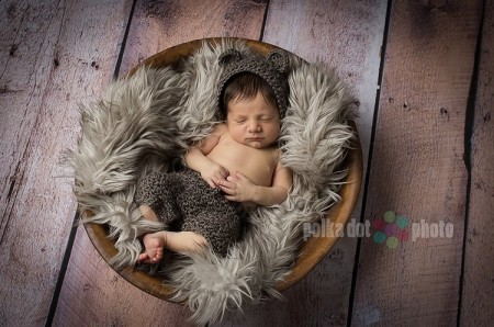 Old Barn Wood Floordrop with Newborn