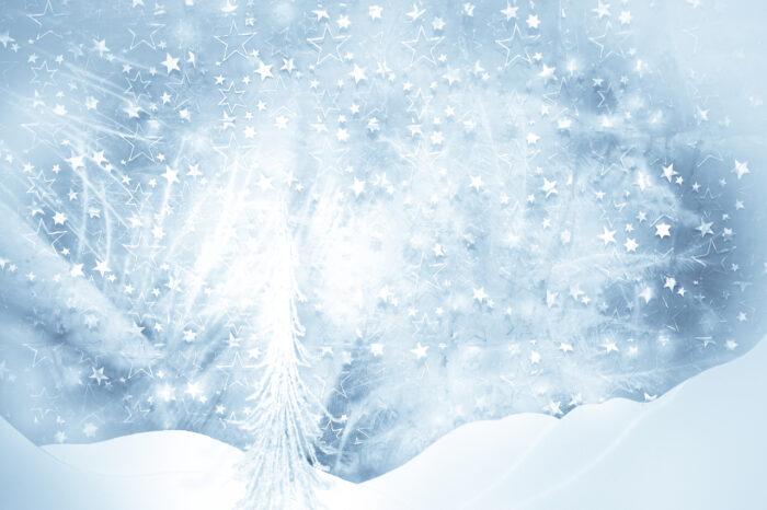 Snow Scene Blue