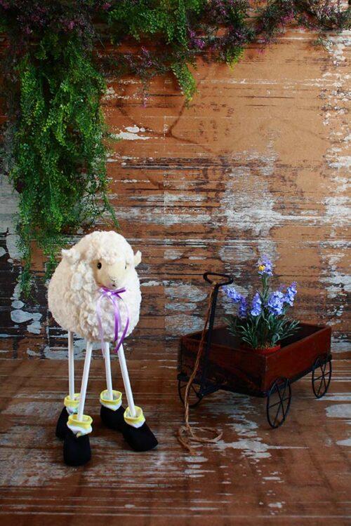Sheep and Wagon Photography Backdrop