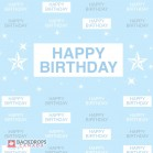 Blue Birthday Media Wall