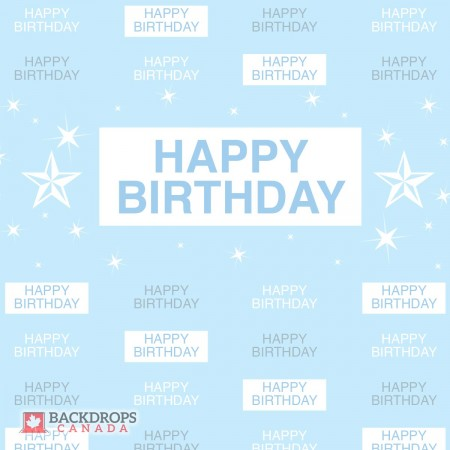 Blue Birthday Media Wall
