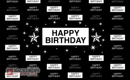 Birthday Media Wall Horizontal