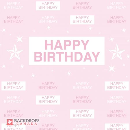 Pink Birthday Media Wall