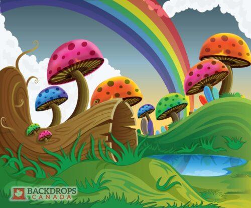 Mushroom Hunting Photography Backdrop