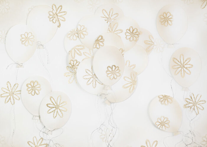 3D Gold Balloons Photography Backdrop