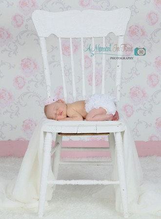 Elegant Pale Pink Backdrop with Newborn