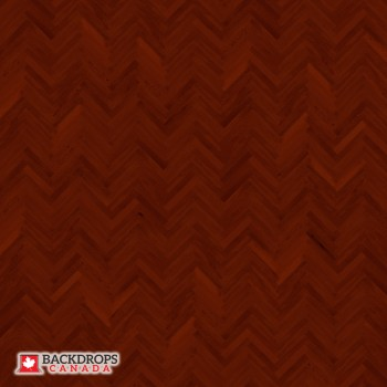 Mahogany Harringbone Photography Backdrop